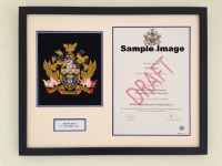 UC Farnborough-Hand-embroidered Degree Certificate frame